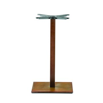 Inox square 605 table base
