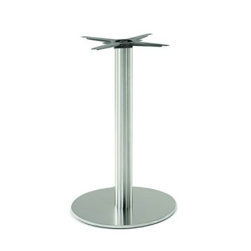Inox round 605 table base