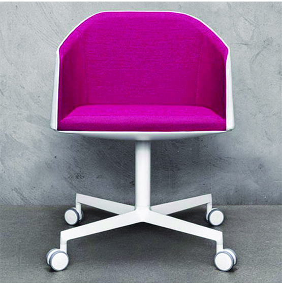 Raja 202 rolling armchair - BDS Contract