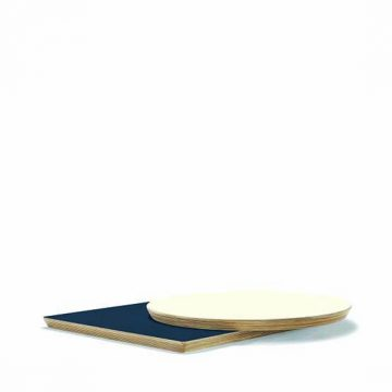 Laminate top, wood edge